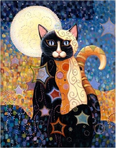 Diamond Painting Cartoon Cat Painting - OLOEE