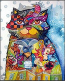 Diamond Painting Abstract Tale Cat - OLOEE