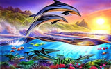 Diamond Painting Jumping Dolphin - OLOEE