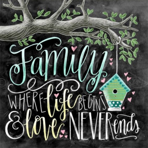 Family Where Life Begins and Love Never Ends - OLOEE