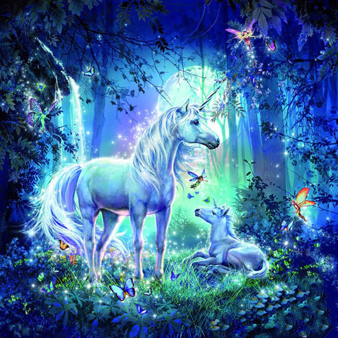 Diamond Painting Unicorn and Fairies - OLOEE