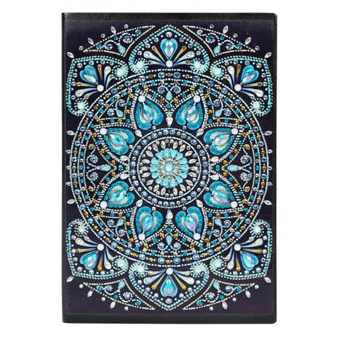 Diamond Painting Blue Flourish Diamond Painting Notebook - OLOEE