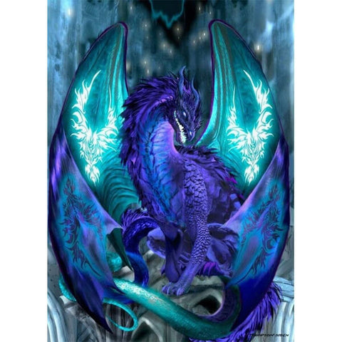 Diamond Painting Blue Dragon - OLOEE