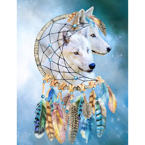White Wolf Dream Catcher