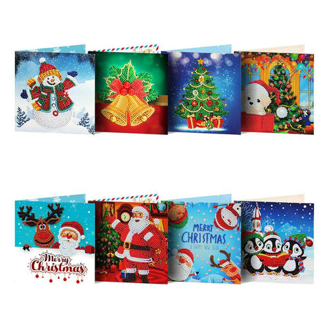 Diamond Painting Mega Value Christmas Cards - 8x Pack - OLOEE