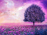 Diamond Painting Purple Glowing Tree - OLOEE