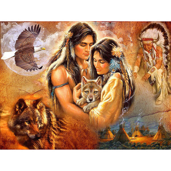 Diamond Painting Native American Couple - OLOEE
