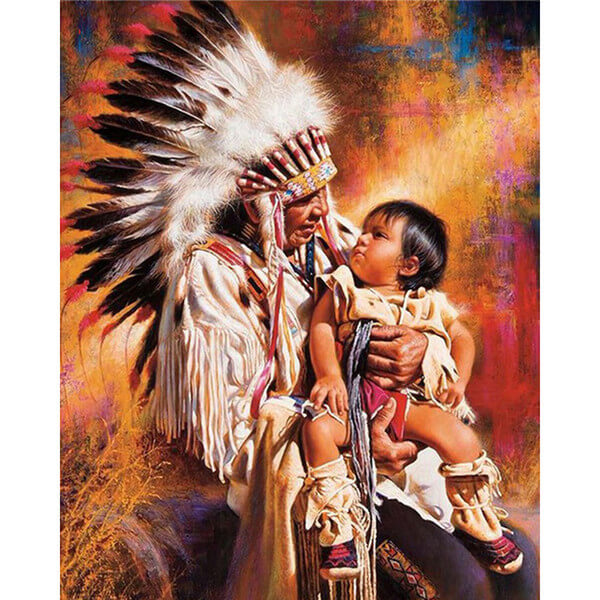 Diamond Painting Native Indian Chief - OLOEE