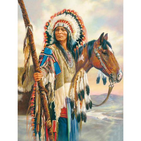 Diamond Painting Native American Full Drill - OLOEE