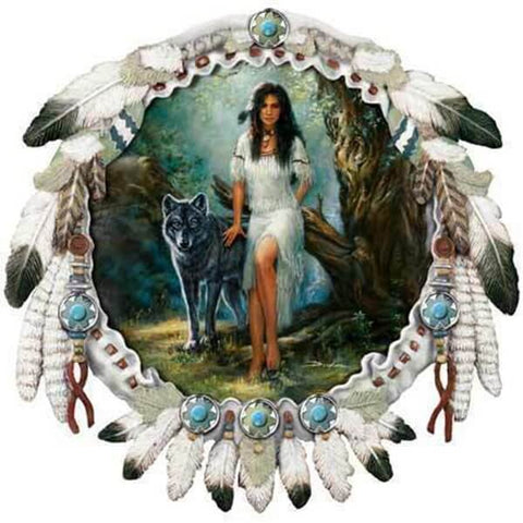 Diamond Painting Indian Girl Dreamcatcher - OLOEE