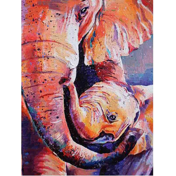 Diamond Painting Beautiful Elephant Art - OLOEE