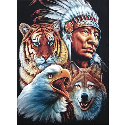 Diamond Painting Native Indian Animals - OLOEE