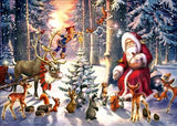 Diamond Painting Santa With Forest Friends - OLOEE