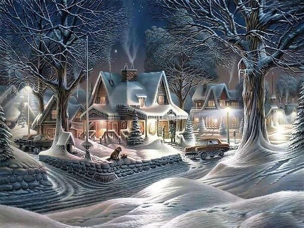 Diamond Painting Christmas Village - OLOEE