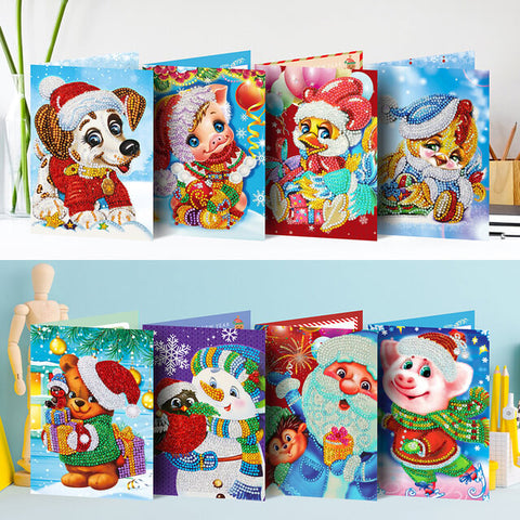 Diamond Painting Mega Value Christmas Cards 4 - 8x Pack - OLOEE