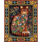 Diamond Painting Floral Cats Arts - OLOEE