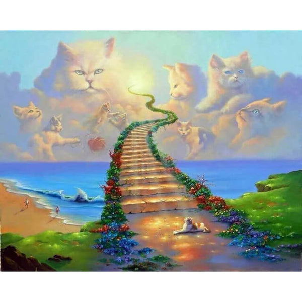 Diamond Painting All Cats Go To Heaven - OLOEE