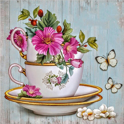 Diamond Painting Flower Cup - OLOEE