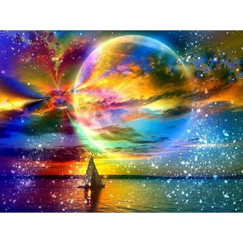 Diamond Painting Colorful Night Sky - OLOEE