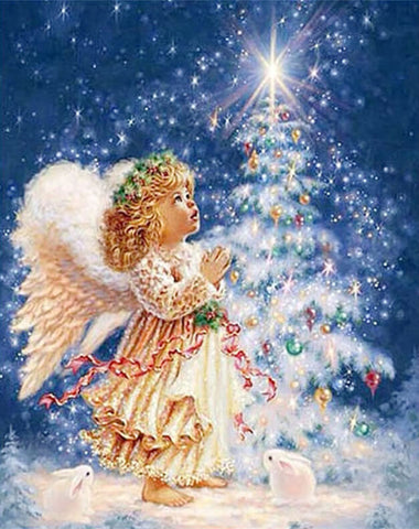 Diamond Painting Christmas Angel - OLOEE
