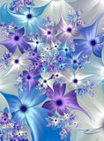 Diamond Painting 3D Blue Flowers - OLOEE