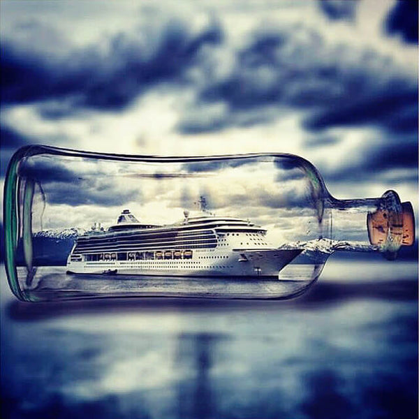 Diamond Painting Ship In Bottle - OLOEE