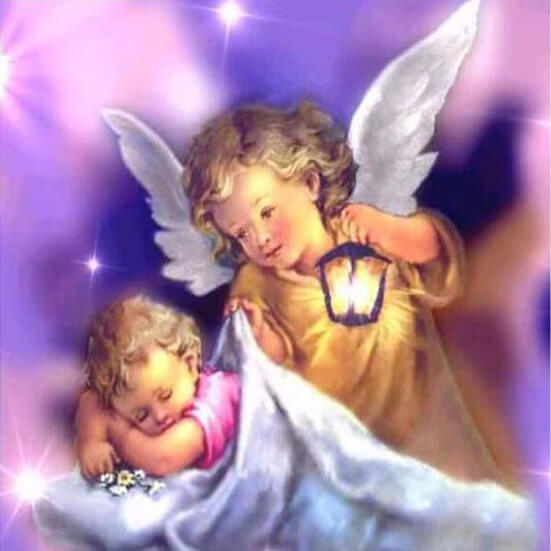Two Baby Angels 5d Diamond Painting Kits Oloee