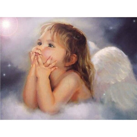 Diamond Painting Little Angel Girl - OLOEE