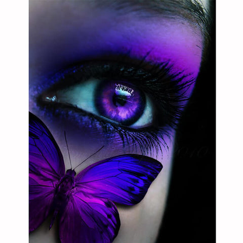 Diamond Painting Purple Butterfly Eye - OLOEE