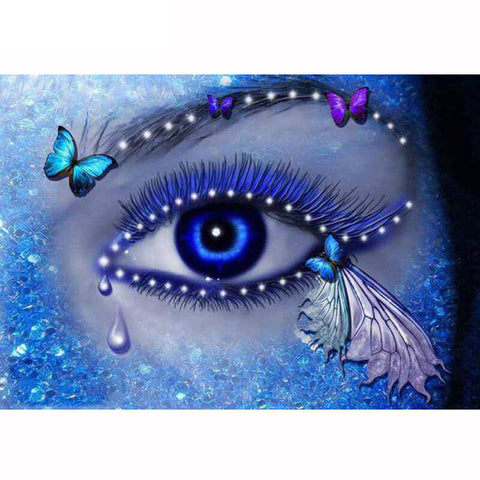 Diamond Painting Crystal Blue Eye - OLOEE