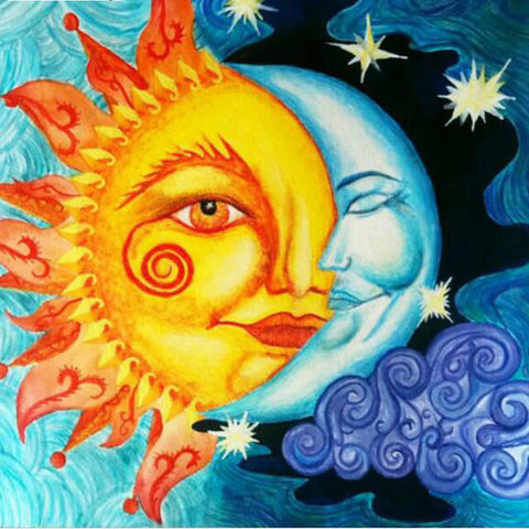 Diamond Painting Moon Sun World - OLOEE