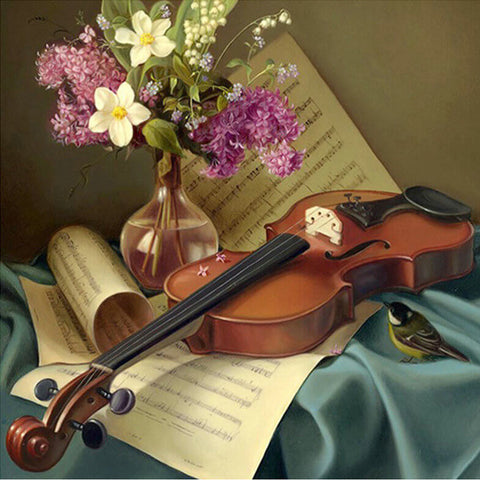 Diamond Painting Violin Music - OLOEE