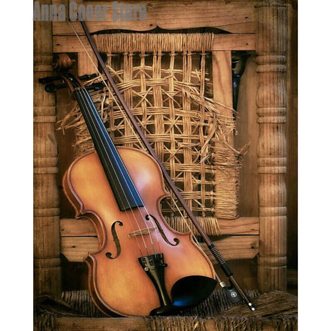 Diamond Painting Diamond Violin - OLOEE