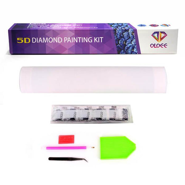 Diamond Painting Blue Neon Tiger - OLOEE