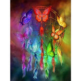 Diamond Painting Colorful Butterfly Dreamcatcher - OLOEE