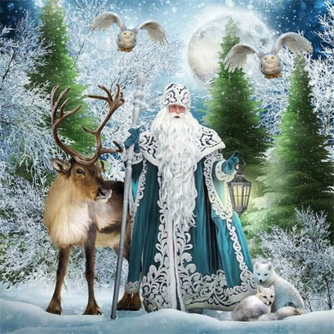 Diamond Painting Santa Claus Animals - OLOEE