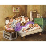Diamond Painting Family Sleeping Together - OLOEE