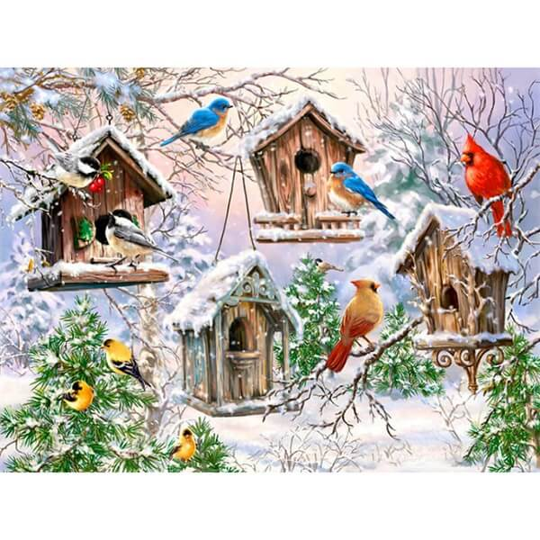 Diamond Painting Painting Snow Bird Animal - OLOEE
