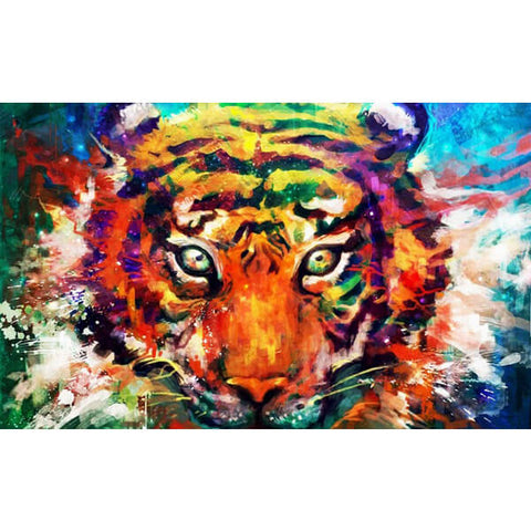 Diamond Painting Tiger Watercolor - OLOEE