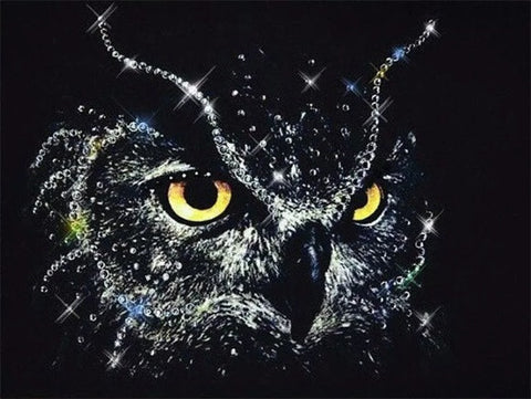 Diamond Painting Crystal Glow Owl - OLOEE