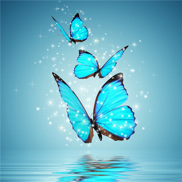 Diamond Painting Sparkled Blue Butterfly - OLOEE