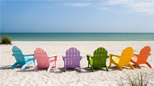 Diamond Painting Colorful Chair On Beach - OLOEE