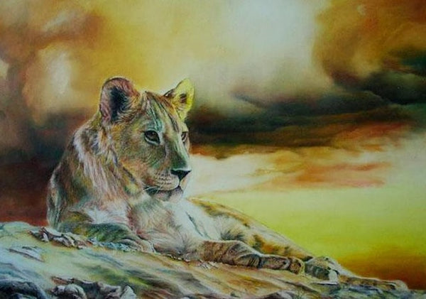 Diamond Painting Relaxed Lion - OLOEE