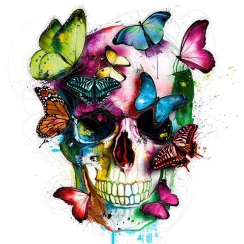 Diamond Painting Butterflies On Skull - OLOEE