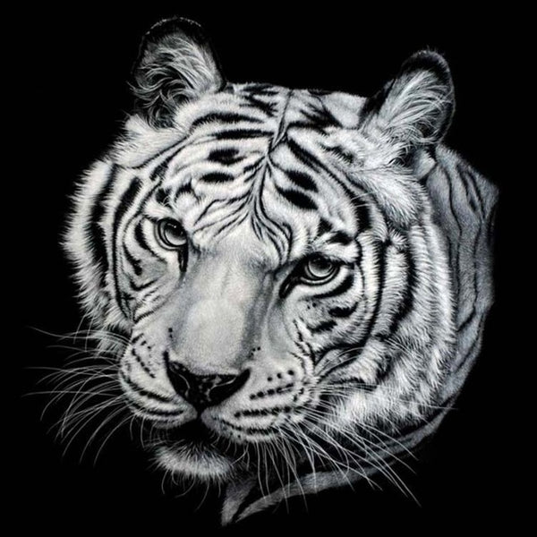 Diamond Painting Black And White Tiger Painting - OLOEE