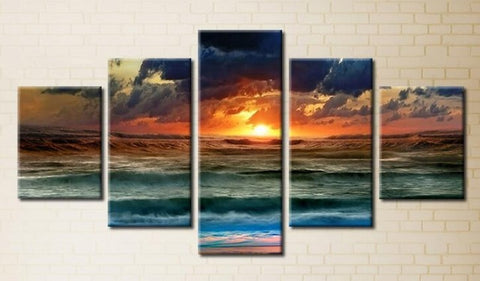 Diamond Painting Seaside Sunset Landscape - OLOEE
