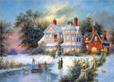 Diamond Painting Winter Playland Home - OLOEE