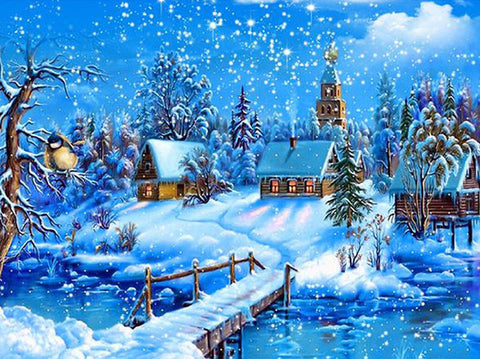 Diamond Painting Winter Cottage - OLOEE
