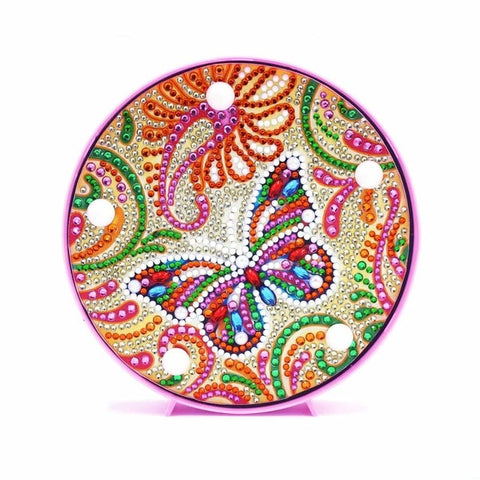 Diamond Painting Colorful Butterfly Diamond Painting Light - OLOEE