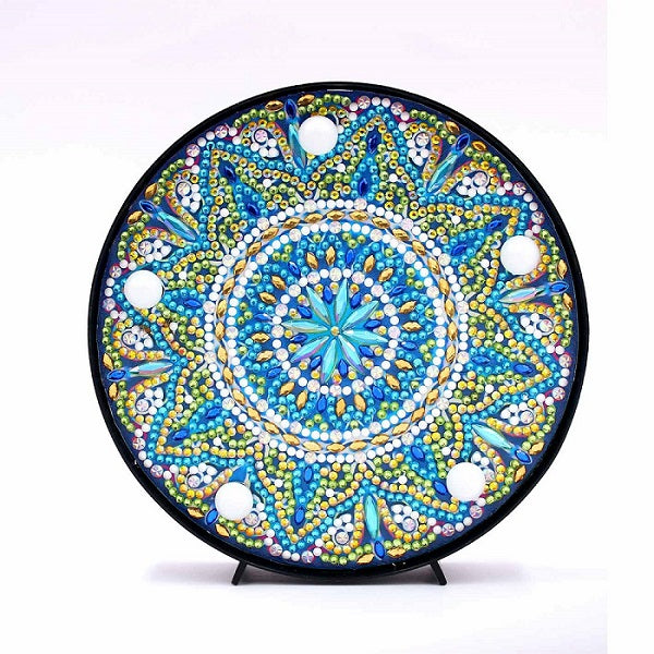 Diamond Painting Green Mandala Diamond Painting Light - OLOEE